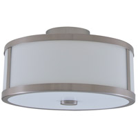 Uptown 3 Light 16 inch Satin Nickel Semi Flush Mount Ceiling Light