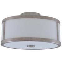 DVI DVP1112SN-OP Uptown 3 Light 16 inch Satin Nickel Semi Flush Mount Ceiling Light