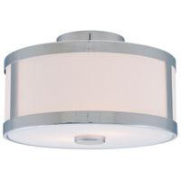 DVI DVP1113CH-OP Uptown 2 Light 12 inch Chrome Semi Flush Mount Ceiling Light