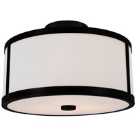 Uptown 2 Light 12 inch Graphite Semi Flush Mount Ceiling Light