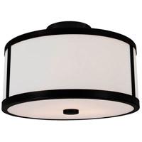 DVI DVP1113GR-OP Uptown 2 Light 12 inch Graphite Semi Flush Mount Ceiling Light