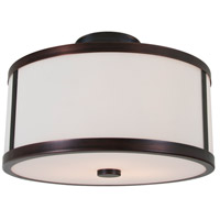 DVI DVP1113ORB-OP Uptown 2 Light 12 inch Oil Rubbed Bronze Semi Flush Mount Ceiling Light
