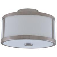 DVI DVP1113SN-OP Uptown 2 Light 12 inch Satin Nickel Semi Flush Mount Ceiling Light