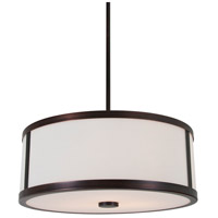 Uptown 3 Light 16 inch Oil Rubbed Bronze Pendant Ceiling Light