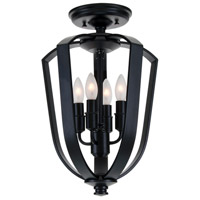 DVI DVP11212EB Castille 4 Light 10 inch Ebony Semi Flush Mount Ceiling Light