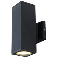 DVI DVP115015BK Summerside 2 Light 10 inch Matte Black Outdoor Sconce