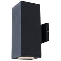 DVI DVP115017BK Summerside Outdoor 2 Light 12 inch Black Outdoor Sconce