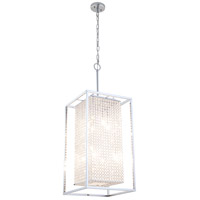 DVI Lighting Shadow Box 8 Light Pendant in Chrome with Clear Optic Glass DVP13149CH-CRY