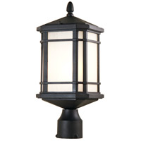 DVI DVP142014BK-SSD Cardiff 1 Light 18 inch Black Outdoor Post Top