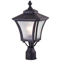 DVI Lighting Swansea 1 Light Post Top in Black with Silver Glass DVP143014BK-SI