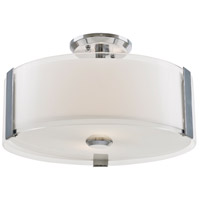 Zurich 3 Light 14 inch Chrome Semi Flush Mount Ceiling Light