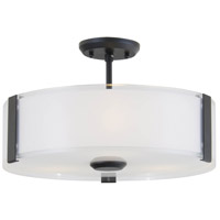 Zurich 3 Light 14 inch Graphite Semi Flush Mount Ceiling Light