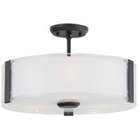 DVI DVP14512GR-SSOP Zurich 3 Light 16 inch Graphite Semi Flush Mount Ceiling Light