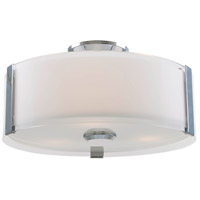 DVI DVP14532CH-SSOP Zurich 3 Light 12 inch Chrome Flush Mount Ceiling Light