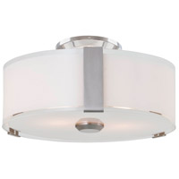 DVI DVP14532SN-SSOP Zurich 3 Light 12 inch Satin Nickel Flush Mount Ceiling Light