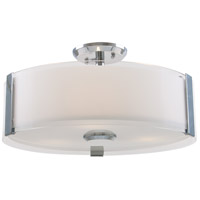 Zurich LED Chrome Semi Flush Mount Ceiling Light