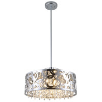 Woodstock 3 Light 15 inch Chrome Pendant Ceiling Light