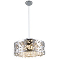 DVI Lighting Woodstock 6 Light Pendant in Chrome with Clear Crystal Glass DVP14706CH-CRY