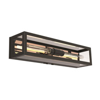 Baker Street 2 Light 6 inch Graphite and Copper Outdoor Sconce
