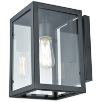 DVI DVP15671BK-CL Baker Street 1 Light 10 inch Black Outdoor Sconce