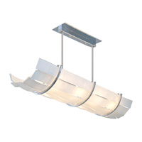 DVI Lighting Tides 8 Light Linear Pendant in Chrome with Silk Screened White Glass DVP15702CH-SSW