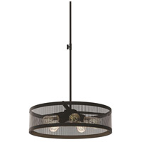 Gastown 5 Light 20 inch Graphite Pendant Ceiling Light