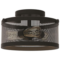 DVI Lighting Gastown 3 Light Semi Flush Mount in Graphite DVP15711GR-N