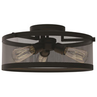 DVI Lighting Gastown 3 Light Semi Flush Mount in Graphite DVP15712GR-N