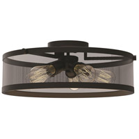 DVI Lighting Gastown 5 Light Semi Flush Mount in Graphite DVP15718GR-N