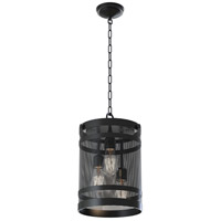 Gastown 3 Light 11 inch Graphite Foyer Pendant Ceiling Light