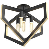 Urban Cottage 4 Light 26 inch Graphite Semi Flush Mount Ceiling Light