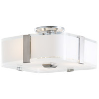 KII 3 Light Satin Nickel Semi Flush Mount Ceiling Light