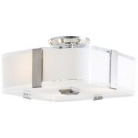 DVI DVP18011CH-SSOP Kii 3 Light 12 inch Chrome Semi Flush Mount Ceiling Light