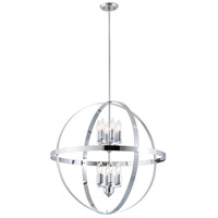 Compass 12 Light 28 inch Graphite (Outer) with Chrome (Inner) Pendant Ceiling Light