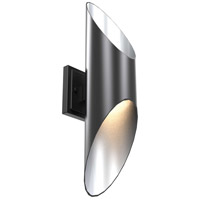 Beacon Hill LED 20 inch Graphite and Stainless Steel Outdoor Wall Sconce