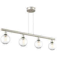 Ocean Drive 4 Light 34 inch Satin Nickel and Chrome Island Light Ceiling Light