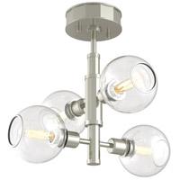 DVI DVP20811SN/CH-CL Ocean Drive 4 Light 17 inch Satin Nickel and Chrome Semi Flush Mount Ceiling Light