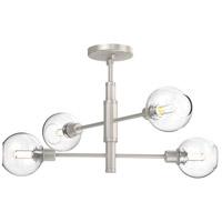 DVI DVP20812SN/CH-CL Ocean Drive 4 Light 22 inch Satin Nickel and Chrome Semi-Flush Mount Ceiling Light