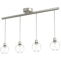 Ocean Drive 4 Light 34 inch Satin Nickel and Chrome Linear Pendant Ceiling Light