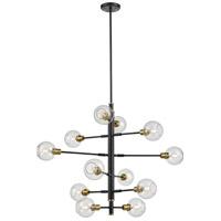 DVI DVP20849VBR+GR-CL Ocean Drive 12 Light Venetian Brass and Graphite Foyer Ceiling Light