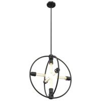 Brandt 6 Light 19 inch Graphite Pendant Ceiling Light