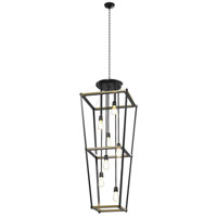 Lombard Street 7 Light 29 inch Graphite Foyer Pendant Ceiling Light, Square
