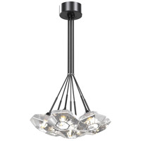 Salish 7 Light 21 inch Graphite with Chrome Pendant Ceiling Light