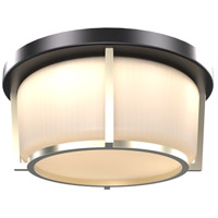 Jarvis LED 10 inch Black and Soft Gold Flush Mount Ceiling Light