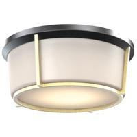 DVI DVP21938BK/SG-OP Jarvis LED 13 inch Black and Soft Gold Flush Mount Ceiling Light