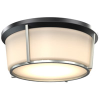 DVI DVP21938BK/SN-OP Jarvis LED 13 inch Black and Satin Nickel Flush Mount Ceiling Light