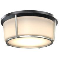 DVI DVP21938BK/SN-OP Jarvis LED 13 inch Black and Satin Nickel Flush Mount Ceiling Light