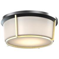 DVI DVP21942BK/SG-OP Jarvis 3 Light 13 inch Black and Soft Gold Flush Mount Ceiling Light