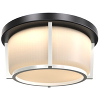 DVI DVP21942BK/SN-OP Jarvis 3 Light 13 inch Black and Satin Nickel Flush Mount Ceiling Light