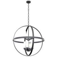 Jupiter LED 28 inch Hammered Black Outdoor Foyer